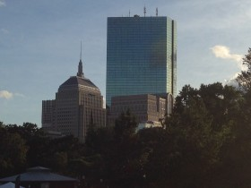 A view of the beautiful Boston Skyline