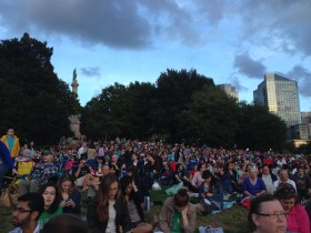 A view of part of the crowd behind where I sat. So wonderful over 50,000 came to watch ballet!