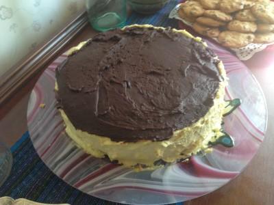 The finished Boston Cream Pie!